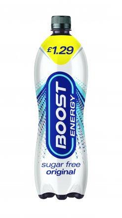 Boost Energy Sugar Free PM £1.29 1ltr