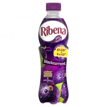 Ribena Blackcurrant  PM £1.09 2 for £2