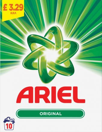 Ariel Compact Bio Powder 10 Washes PM £3.29