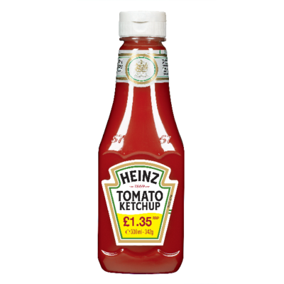 Heinz Tomato Ketchup Squeezable Bottle PM £1.35