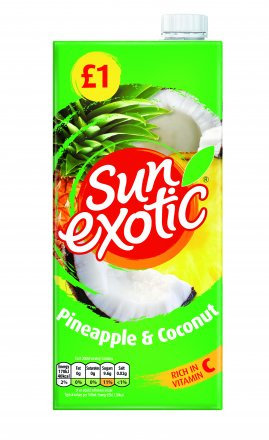 Sun Exotic Pineapple & Coconut Drink PM £1