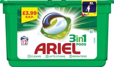 Ariel 3In1 Liquid Tab Pods PM £3.99