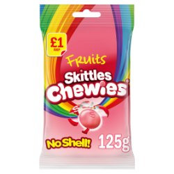 Skittles Chewies Fruits Sweets Treat Bag 125g