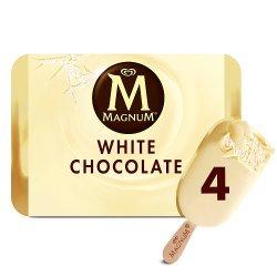 Magnum White Chocolate Ice Cream 4 x 110 ml