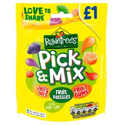 Rowntree's Pick & Mix Sweets Sharing Bag 120g PMP £1