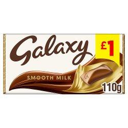 Galaxy Smooth Milk Chocolate £1 PMP Bar 110g