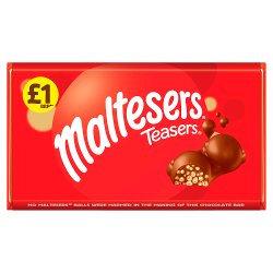 Maltesers Teasers Chocolate £1 PMP Bar 100g
