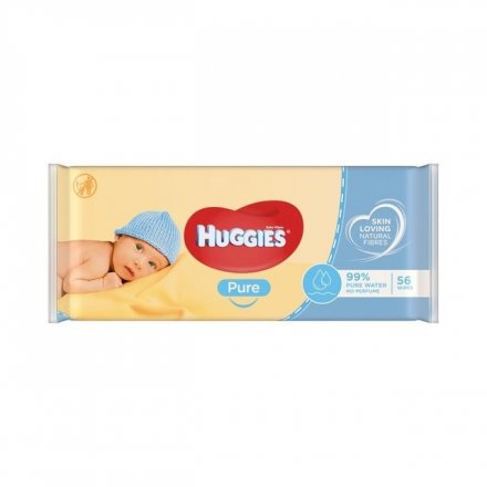 Huggies Pure Baby Wipes Non PMP 56s