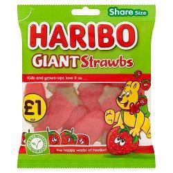 HARIBO Giant Strawbs Bag 160g £1PM