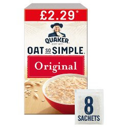 Quaker Oat So Simple Original Porridge Sachets £2.29  PMP
