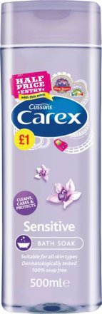 Carex Bath Sensitive Foamwash PM £1