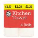 Euro Shopper Kitchen Towel 4 Rolls  PM £1.39