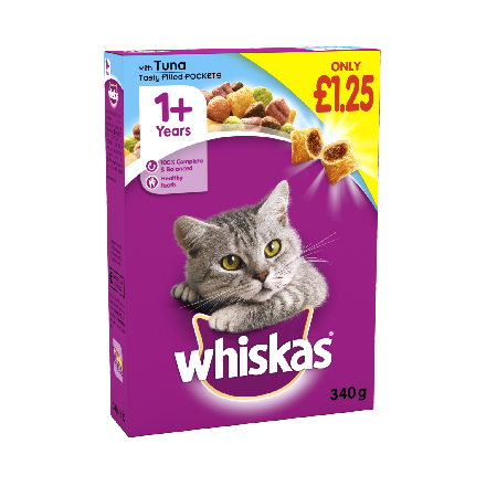 Whiskas 1+ Complete Dry with Tuna PM £1.25