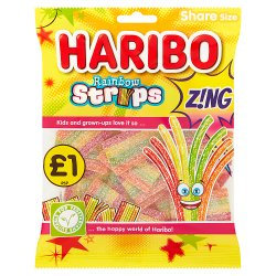HARIBO Rainbow Strips Z!ng Bag 130g £1PM
