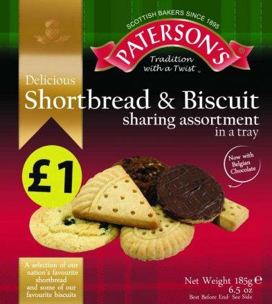 Paterson's Shortbread & Biscuit Assortment PM £1