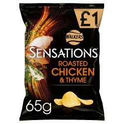 Walkers Sensations Roasted Chicken & Thyme 65g