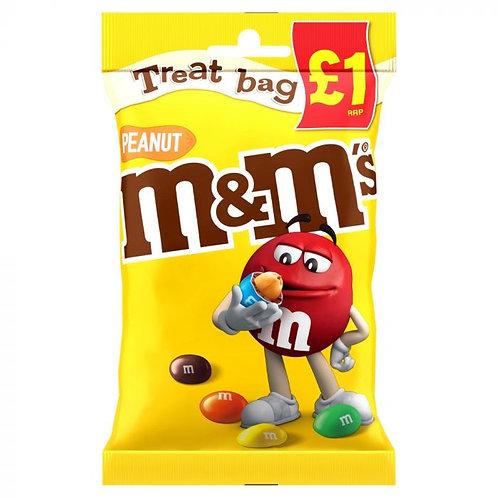 M&M's Peanut Chocolate £1 PMP Treat Bag 82g
