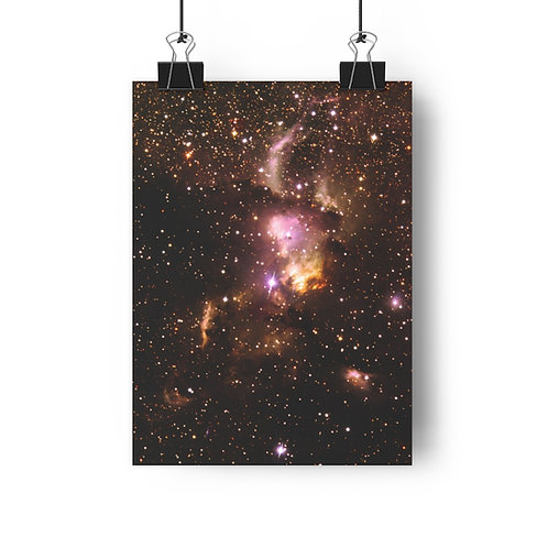 "NGC 3576, matte print, 8""x11"""