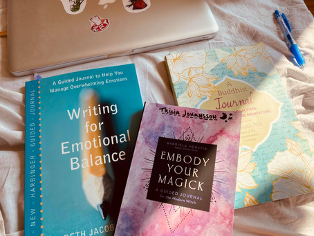Tarot Journal, Guided Journaling & crystals