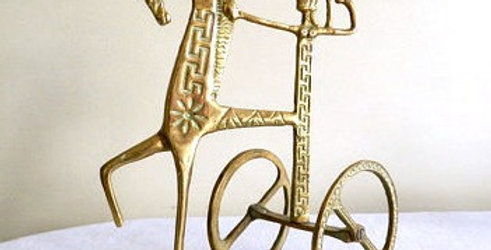 Frederick Weinberg Style Gilt Trojan Horse Figurine