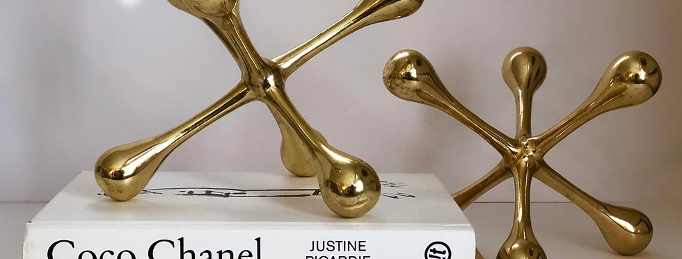 Brass Jack Sculptures - A Pair