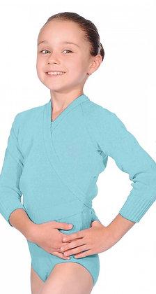Aqua Blue Crossover Cardigan