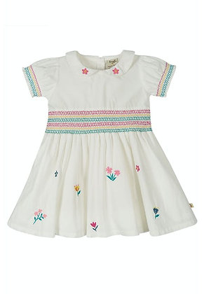 White Collared Floral Dress