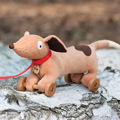 Wooster Pull Along Dog by Ragtales
