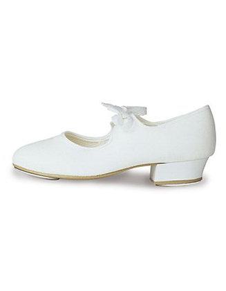 White Canvas Tap Shoes