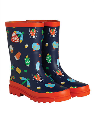 Frugi Puddle Buster Wellington Boots - Bugs