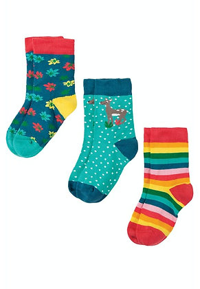 Susie Socks 3 Pack - Deer Multipack
