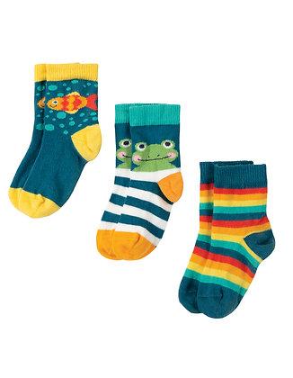 Little Socks 3 Pack - Frog Multipack