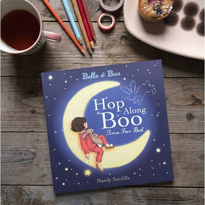 Hop Along Boo Bedtime Story Book by Belle & Boo