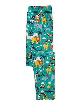 Frugi Libby Printed Leggings - Jewel India