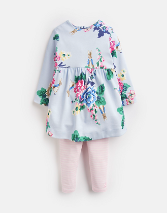 Joules Official Peter Rabbit Collection Dress and Legging Set