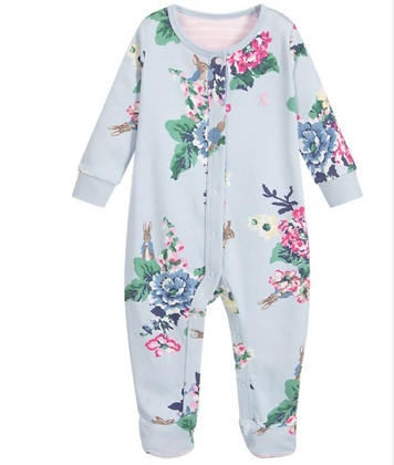 Joules Peter Rabbit Official Collection Floral Printed Babygrow