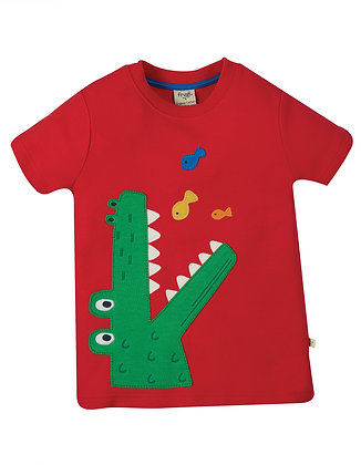 Frugi Carsen T-shirt - Red/Croc