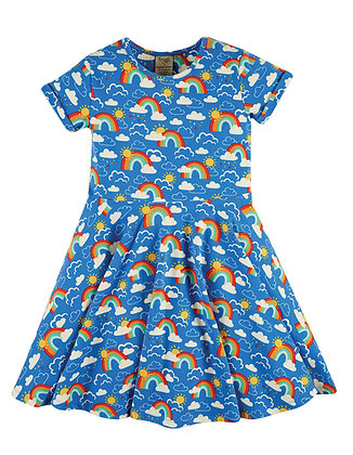 Spring Skater Dress - Rainbow Skies
