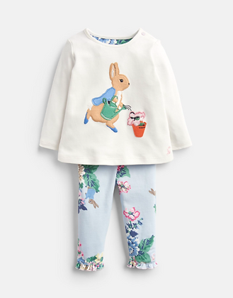 Joules Official Peter Rabbit Collection Applique Top and Trouser Set