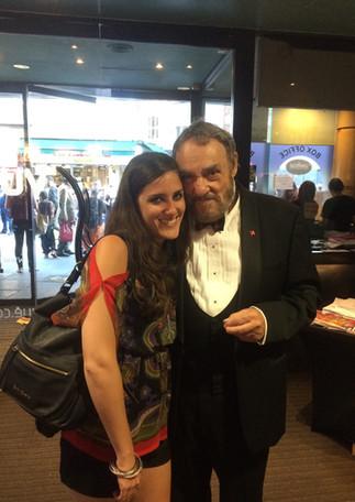 With John Rhys Davies at a London premiere