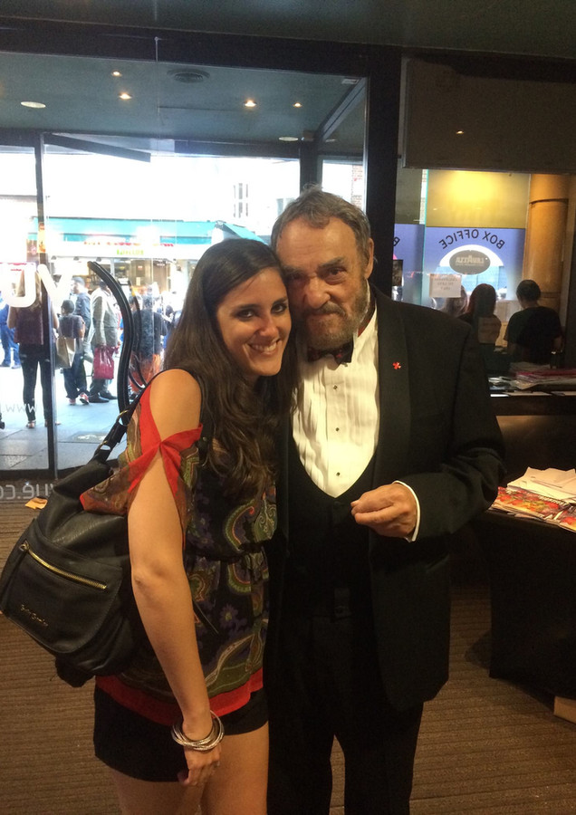 With John Rhys Davies at a London premiere