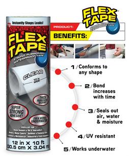 FLEX TAPE 4 in. W x 5 ft. L White Waterp