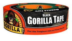 Gorilla 1.88 in. W x 35 yd. L Black Duct