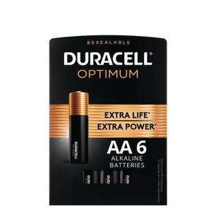 Duracell Optimum AA Alkaline Batteries 6
