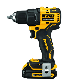 DeWalt Atomic 20V MAX 20 volt 1/2 in. Brushless Cordless Compact Drill Kit (Battery & Charger)