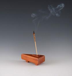 Wooden incense holder / weed pot vas