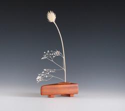 Modern wood sculpture / weedpot vas