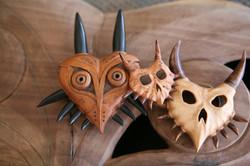 Wooden Majora's mask , wooden