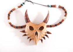 Majora's mask wooden pendent