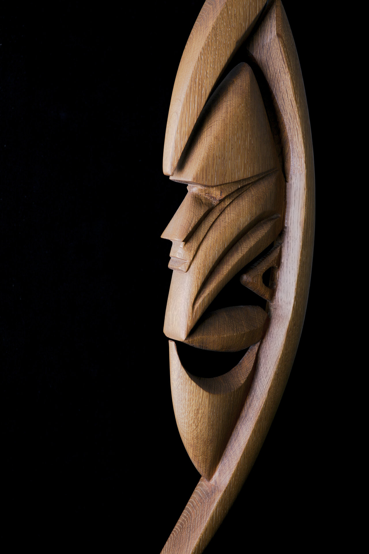 Yipwon Spirit Figure , White Oak
